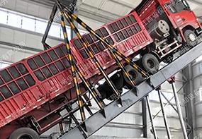 液压卸车机是目前大中型载重货车的主要卸车设备